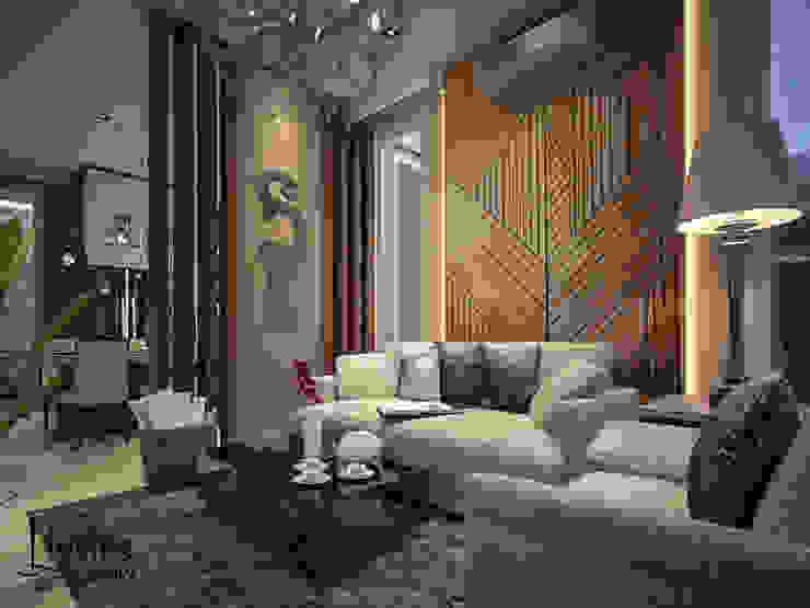 Palour Ruang Keluarga Modern Oleh PT Kreasi Cemerlang Abadi Modern Kayu Wood effect