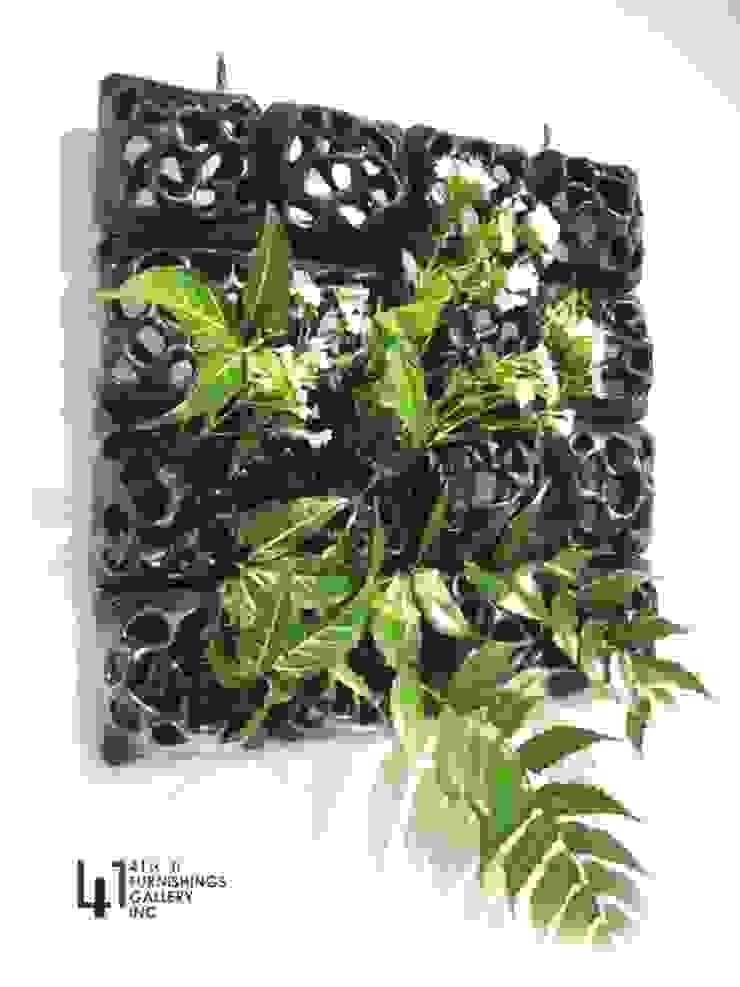 方形花器: 熱帶  by 四一室內裝修有限公司, 熱帶風