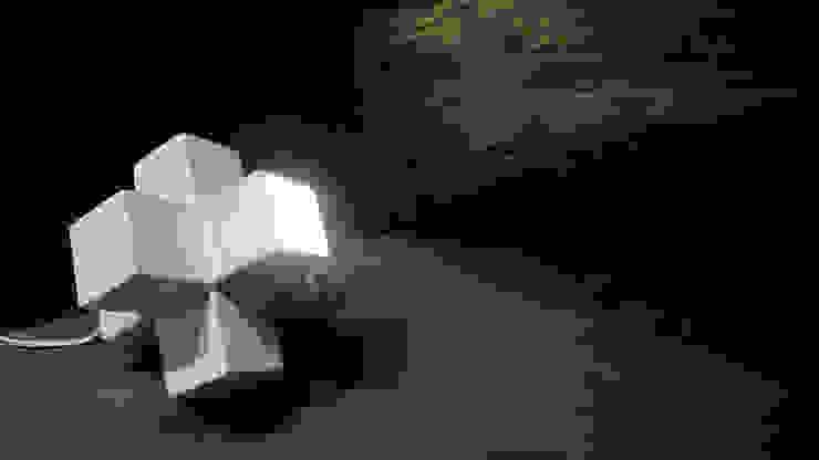 嬉雀白瓷燈: 現代  by 四一室內裝修有限公司, 現代風