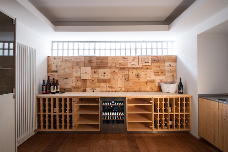 Wine cellar by Chantal Forzatti architetto, Modern Wood Wood effect