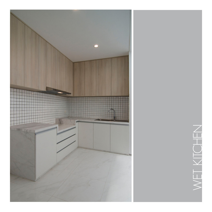 Wet Kitchen Dapur Minimalis Oleh studiopapa Minimalis Kayu Wood effect