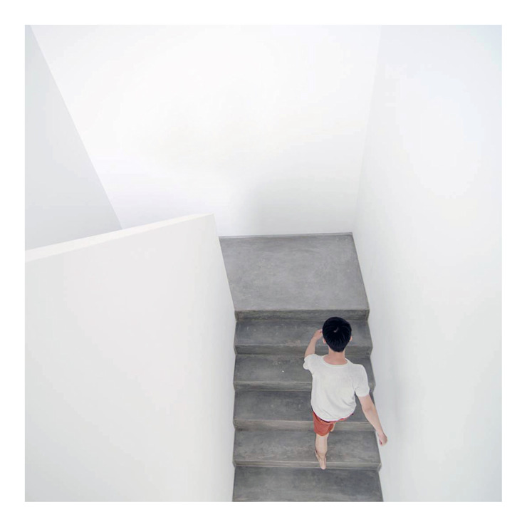 Stairs Koridor & Tangga Minimalis Oleh studiopapa Minimalis Beton