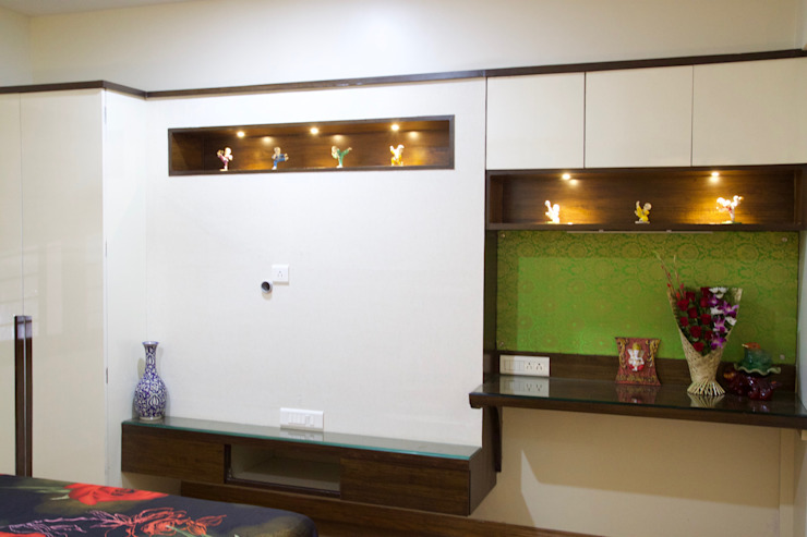 AMIT BLOOMFIELD 3BHK Modern style bedroom by decormyplace Modern