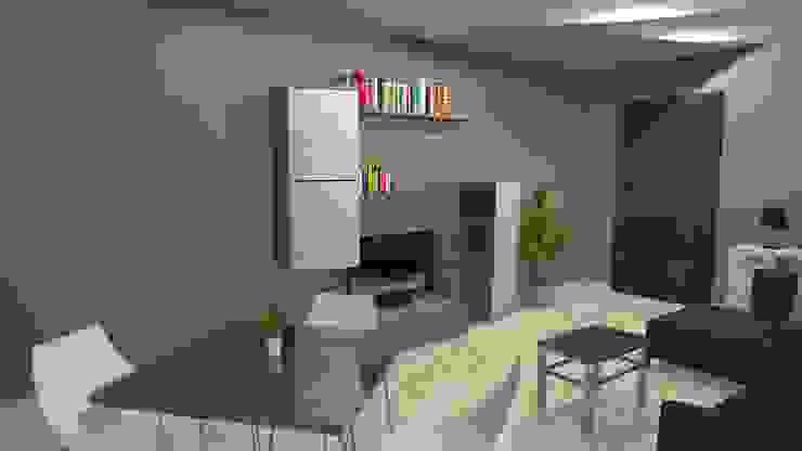 Living area Modern dining room by Sergio Nisticò Modern Ceramic
