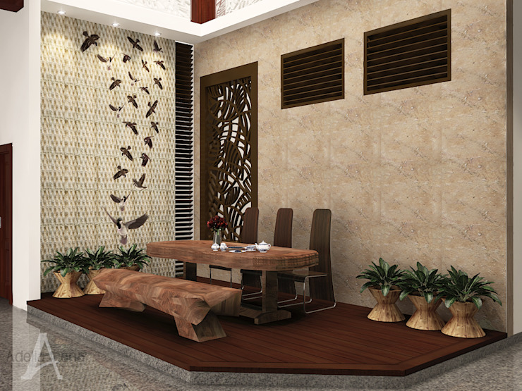 PEKA INTERIOR Tropical style dining room Wood Brown