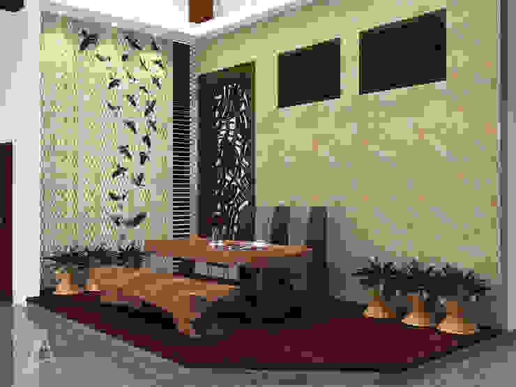 ruang makan Ruang Makan Tropis Oleh PEKA INTERIOR Tropis Kayu Wood effect