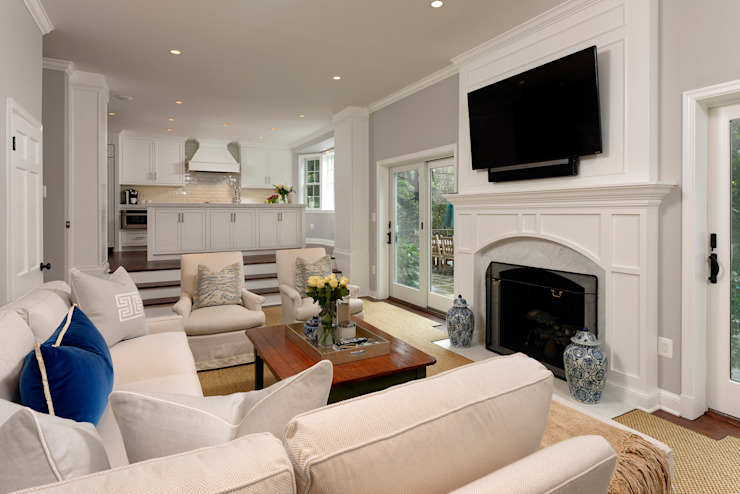 Whole House Design Build Renovation in Bethesda, MD Classic style living room by BOWA - Design Build Experts Classic