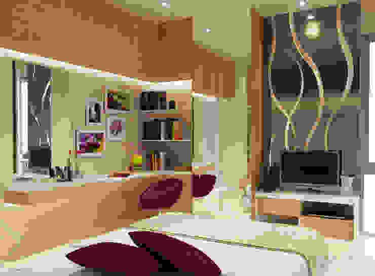Wisata Bukit Mas, Surabaya Kamar Tidur Modern Oleh AIRE INTERIOR Modern Aluminium/Seng