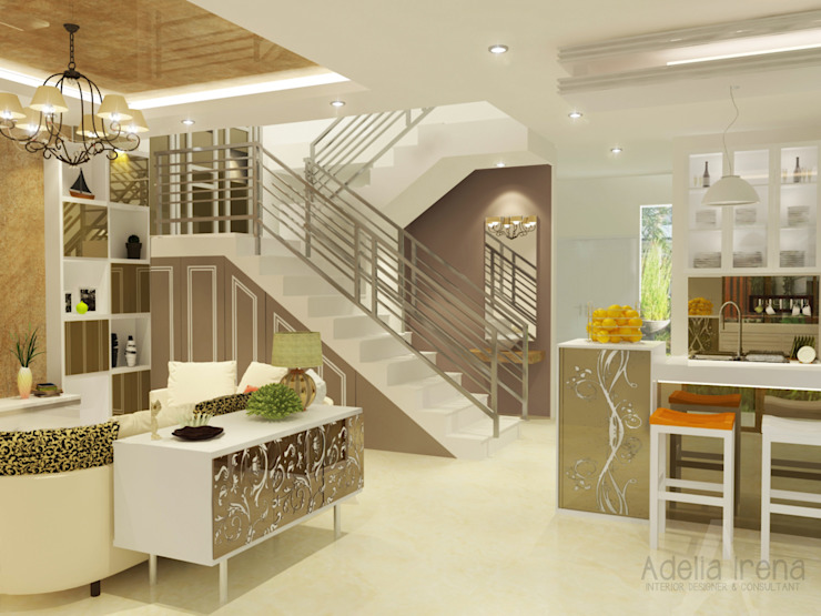 Living Room Ruang Keluarga Klasik Oleh AIRE INTERIOR Klasik