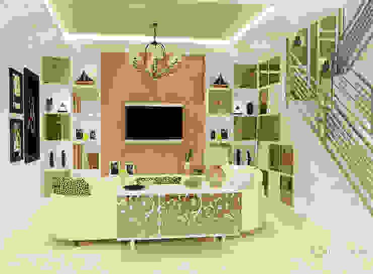 Living Room Ruang Keluarga Modern Oleh AIRE INTERIOR Modern Kaca