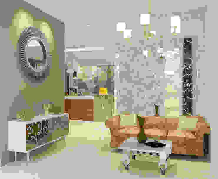 Living Room Ruang Keluarga Klasik Oleh PEKA INTERIOR Klasik Kaca