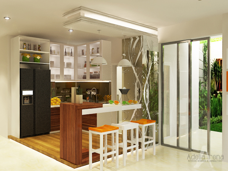 Kitchen units by AIRE INTERIOR , Modern Glass