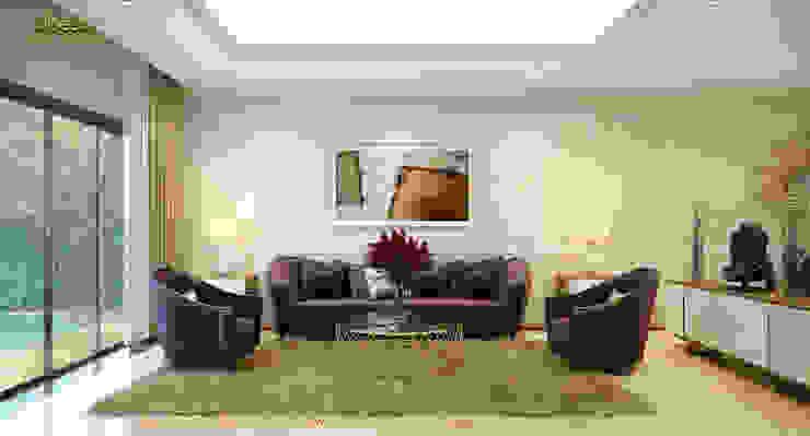 Phòng khách: cổ điển  by Công ty TNHH Thiết kế và Ứng dụng QBEST, Kinh điển