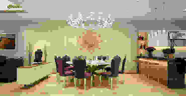 Phòng ăn: cổ điển  by Công ty TNHH Thiết kế và Ứng dụng QBEST, Kinh điển