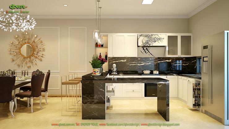 Không gian bếp: cổ điển  by Công ty TNHH Thiết kế và Ứng dụng QBEST, Kinh điển