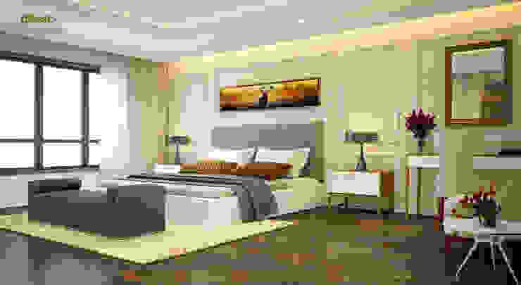 Phòng ngủ master: cổ điển  by Công ty TNHH Thiết kế và Ứng dụng QBEST, Kinh điển