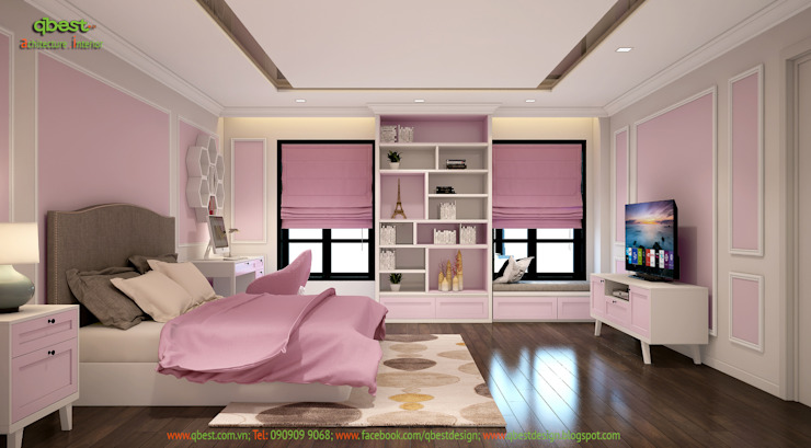 Phòng ngủ bé gái: cổ điển  by Công ty TNHH Thiết kế và Ứng dụng QBEST, Kinh điển
