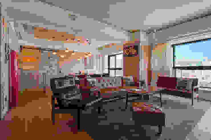 Living room by 哲嘉室內規劃設計有限公司, Scandinavian