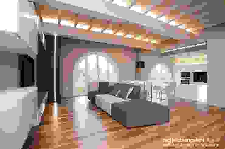 Rachele Biancalani Studio Minimalist living room Brown