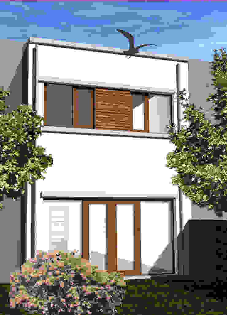 Woning vrije kavel achtergevel Moderne huizen van YA Architecten Modern