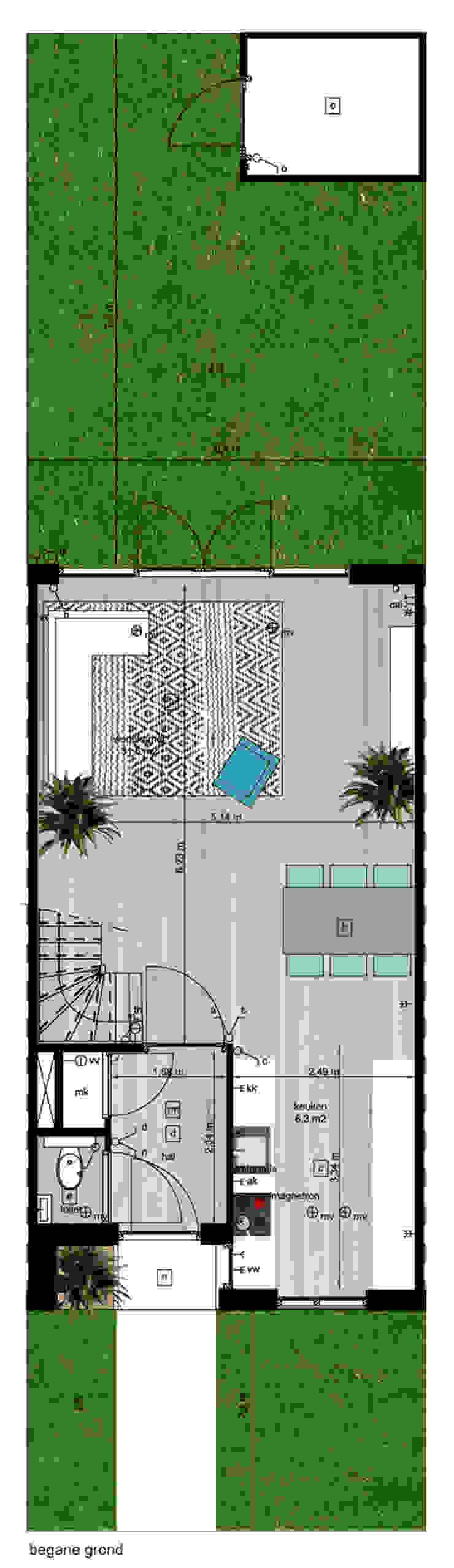 Woning vrije kavel begane grond Moderne huizen van YA Architecten Modern