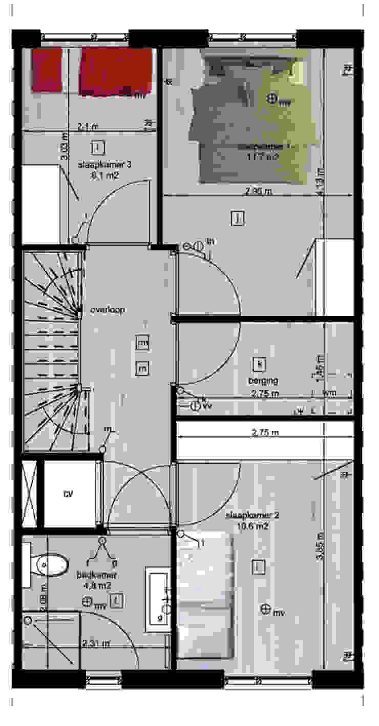 Woning vrije kavel eerste verdieping Moderne huizen van YA Architecten Modern