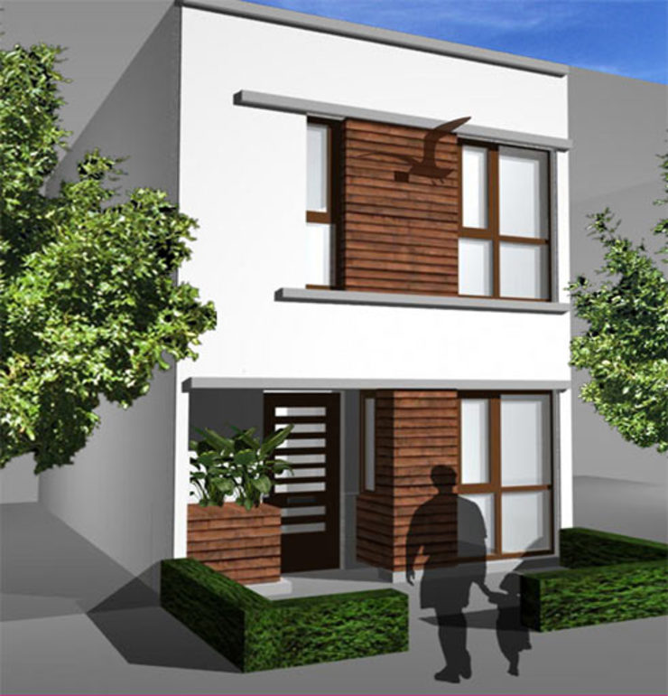 Woning vrije kavel voorgevel Moderne huizen van YA Architecten Modern