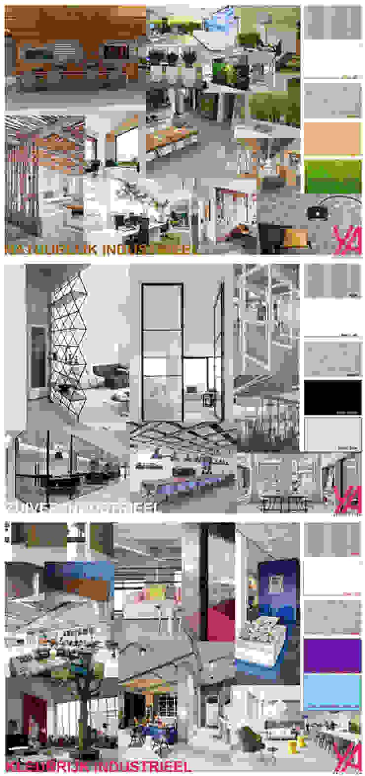 Edificios de oficinas de estilo moderno de YA Architecten Moderno