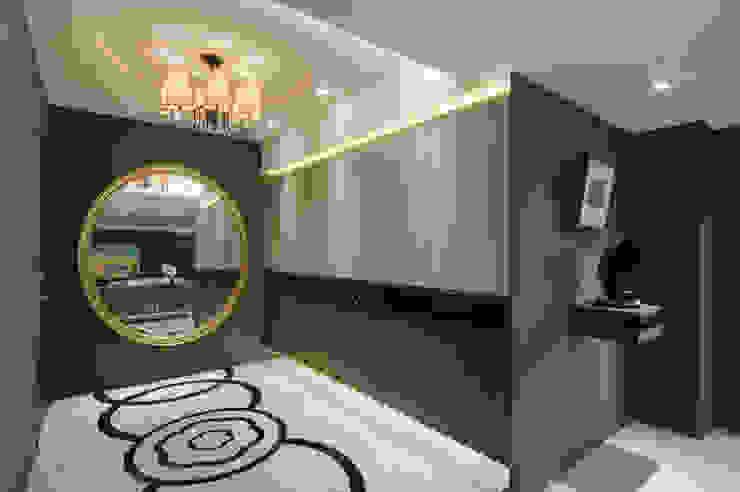 時尚簡約美宅 現代風玄關、走廊與階梯 根據 哲嘉室內規劃設計有限公司 現代風