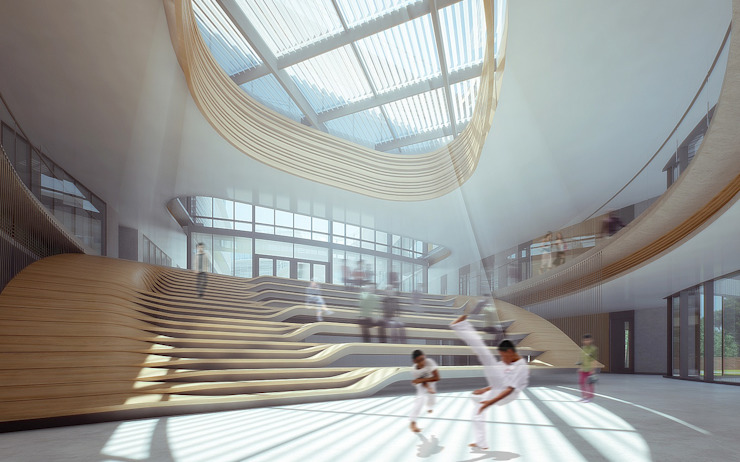 Taipei European School Yangmingshan Campus Redevelopment Project, Taipei, Taiwan Modern schools by Architecture by Aedas Modern