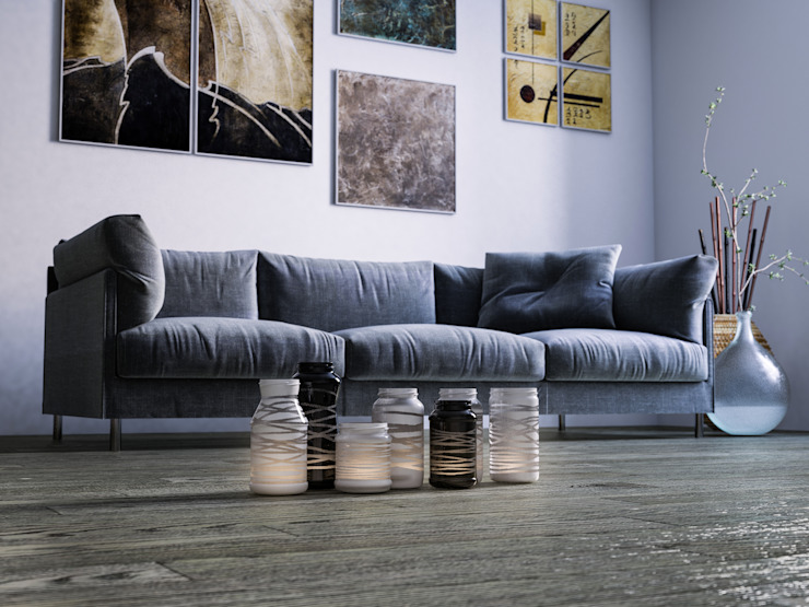 mcp-render Living roomSofas & armchairs Blue