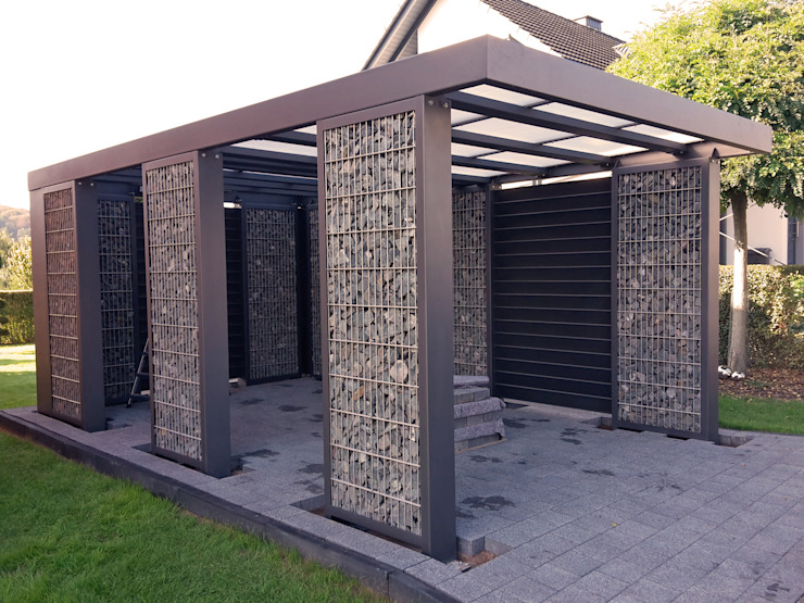 Steelmanufaktur Beyer Garajes abiertos Metal Gris