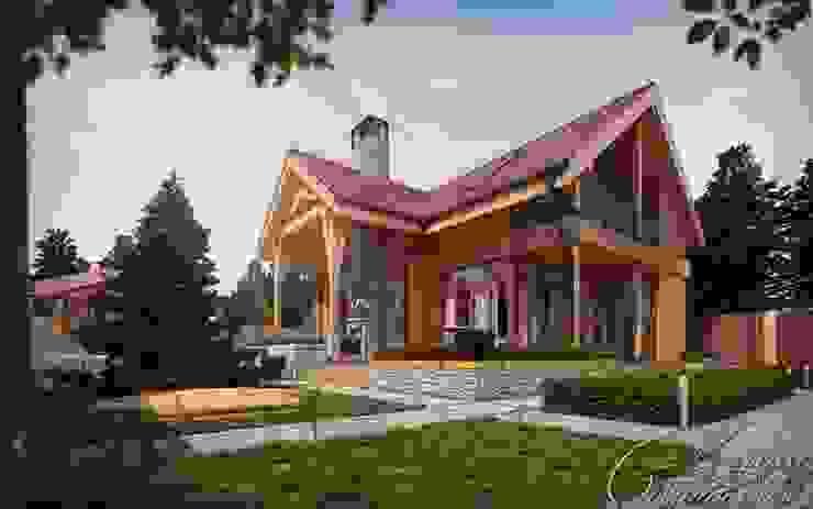 Casas de estilo rural de Компания архитекторов Латышевых 'Мечты сбываются' Rural