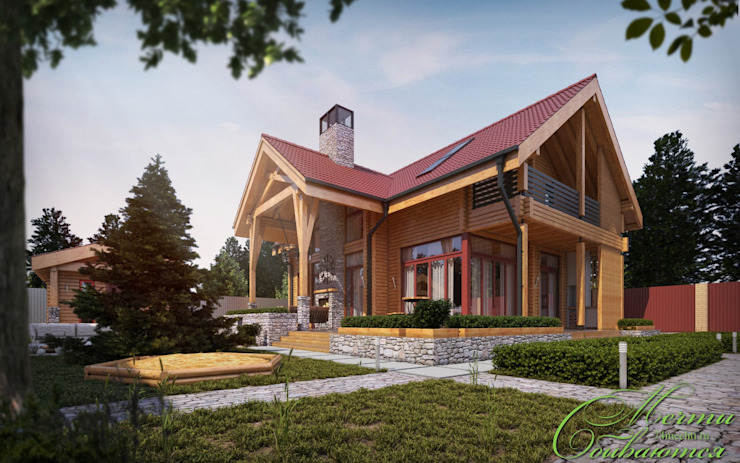Country style houses by Компания архитекторов Латышевых 'Мечты сбываются' Country
