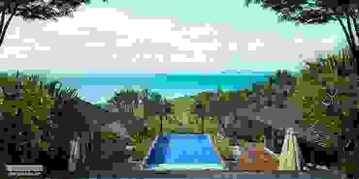 Malaka Beach Views Hotel Tropis Oleh Skye Architect Tropis Kayu Wood effect