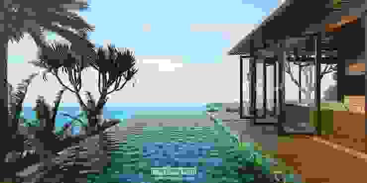 1 Bedroom Views Hotel Tropis Oleh Skye Architect Tropis Kayu Wood effect