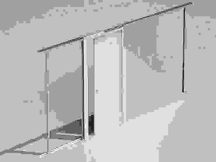 Kant-en-klaar inbouwframe Evolution voor gipsplaten wand van BestFix-Schuifdeursystemen Modern Aluminium / Zink