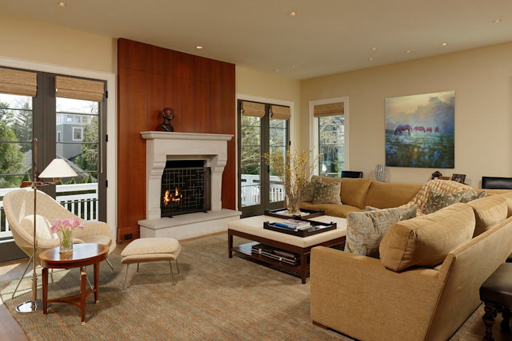 Fire Restoration in Chevy Chase Creates Opportunity for Whole House Renovation BOWA - Design Build Experts Living room