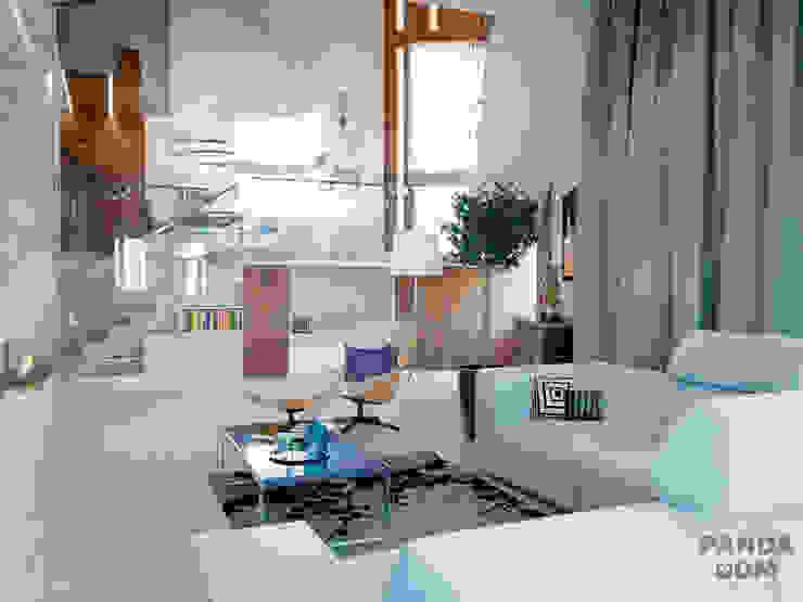 现代客厅設計點子、靈感 & 圖片 根據 дизайн-студия PandaDom 現代風