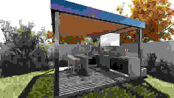 QUINCHO PRE DISEÑADO NEF 01 Balcones y terrazas modernos de NEF Arq. Moderno