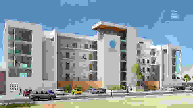 Condominios residenciales Grupo Arsciniest Casas adosadas Hormigón reforzado Blanco