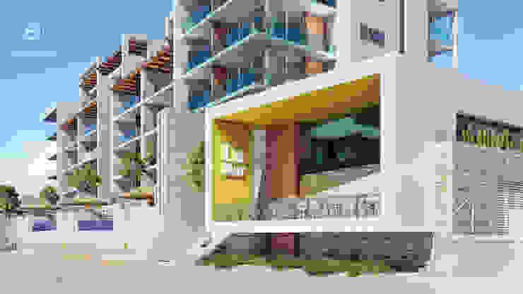 Condominios residenciales Grupo Arsciniest Casas adosadas Hormigón Blanco