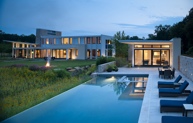 Green Building Features Abound in Bluemont, Virginia Custom Home BOWA - Design Build Experts Modern pool