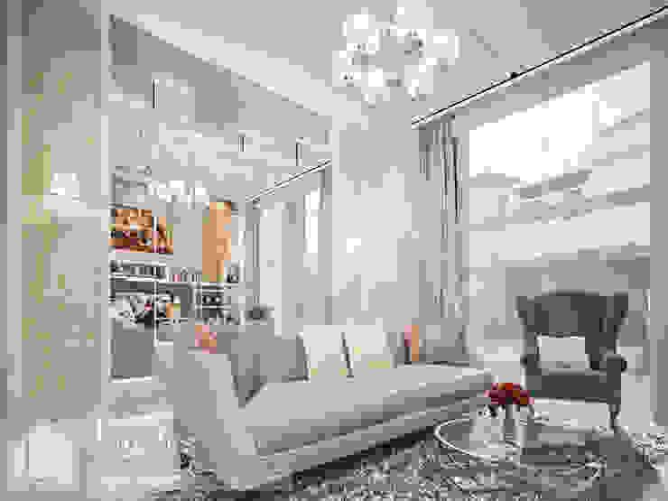 Split Level Living Room Ruang Keluarga Klasik Oleh PT Kreasi Cemerlang Abadi Klasik Kayu Wood effect