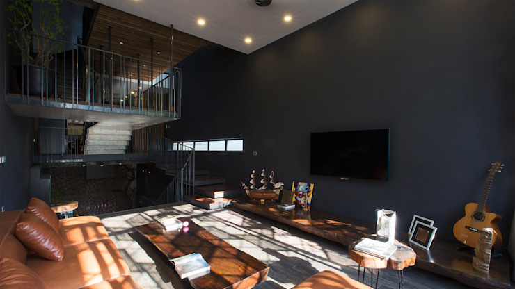 STH - Stairhouse Modern living room by deline architecture consultancy & construction Modern