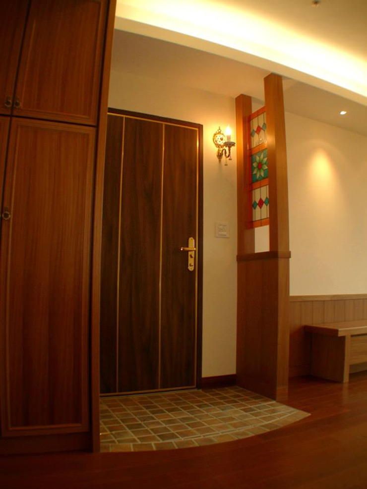 玄關 乡村风格的走廊,走廊和楼梯 根據 Hi+Design/Interior.Architecture. 寰邑空間設計 鄉村風