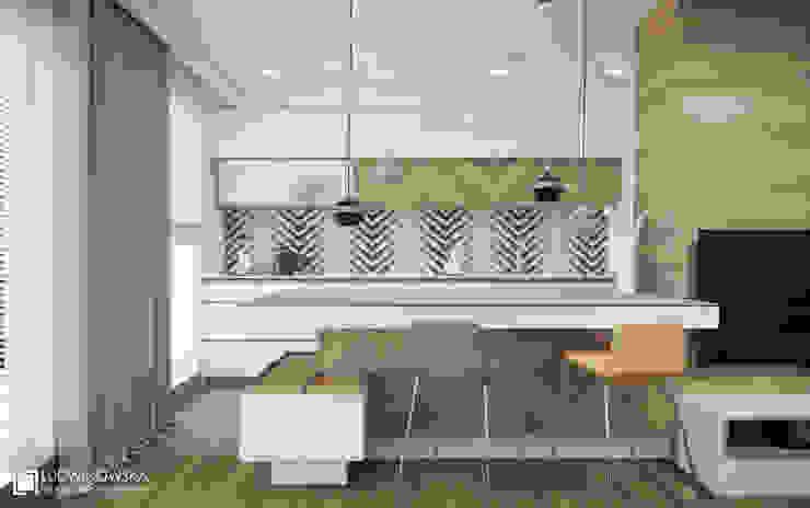 Cocinas de estilo  por Ludwinowska Studio Architektury, Minimalista
