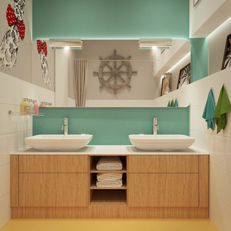 Moderne Badezimmer von дизайн-студия PandaDom Modern