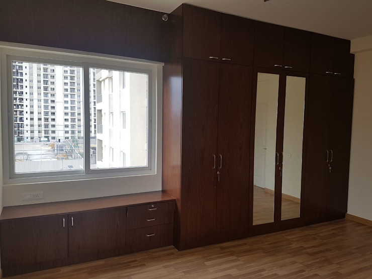 Interiors for a 3 Bedroom Apartment Modern Bedroom by Mallika Seth Modern