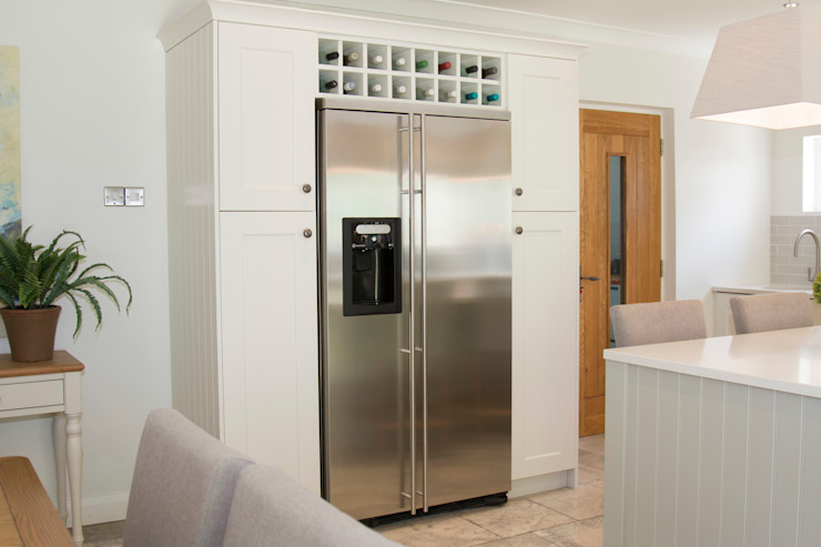 Integrated American Fridge Fridge Freezer by ADORNAS KITCHENS Classic Wood Wood effect